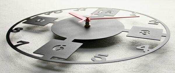 ステンレスレーザーカット掛け時計D-05