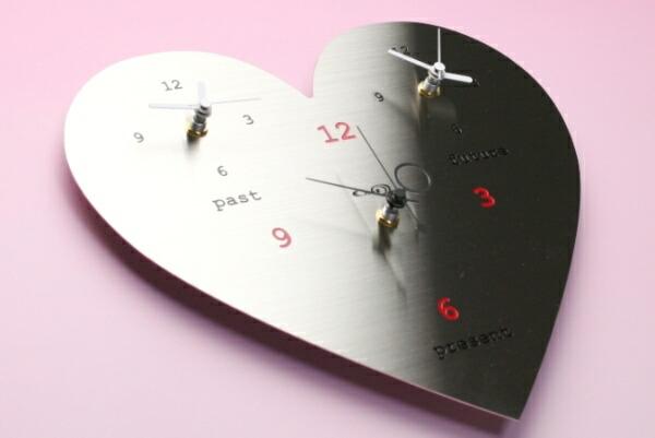 ステンレス掛け時計「ラブリーハート」