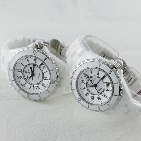 メンズ ギフト ビジネス 時計 お祝い プレゼント SM15120-WHR お洒落 時計 ブランド 誕生日 男性 ホワイト 国内正規品 サルバトーレマーラ 腕時計 セラミック