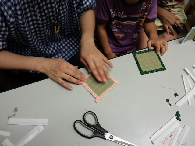 畳のコースター製作