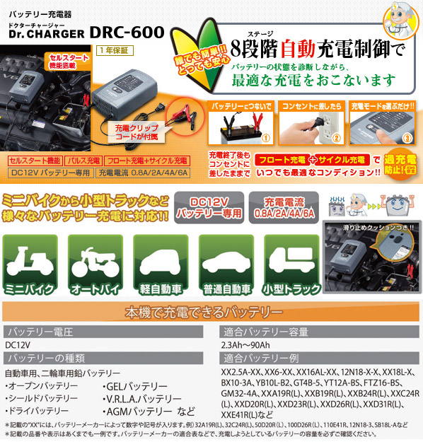Dr.CHARGER DRC-600