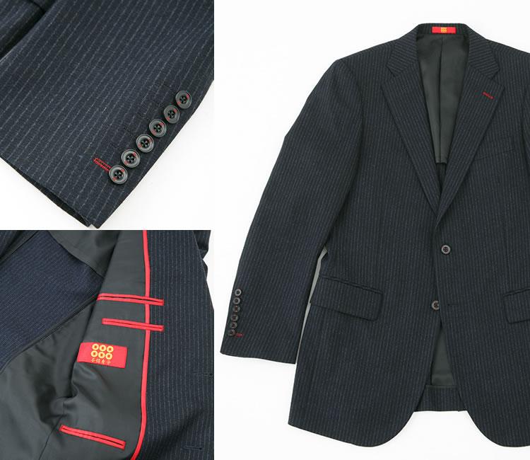 幸村カラーの「赤」「不惜身命」「六文賎」を施した真田幸村スーツ。