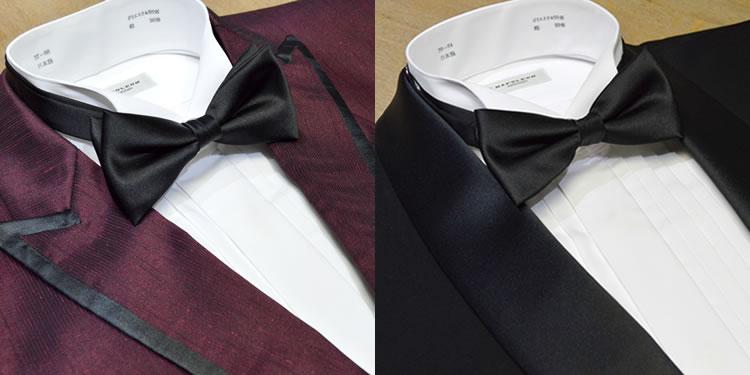 5b722e24ee22d 楽天市場 タキシードシャツと蝶ネクタイ(バタフライ型 シルク)セット ...
