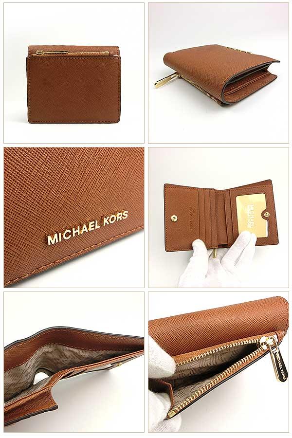 premium selection 0580f 32243 マイケルコース 財布 レディース 二つ折り レザー 茶 ブラウン ...