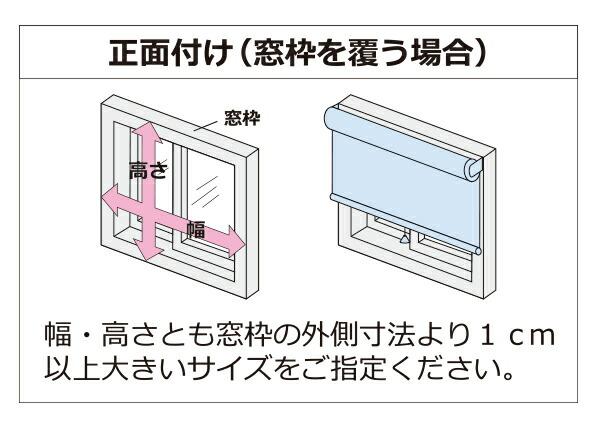 ロールスクリーン正面付けの採寸方法