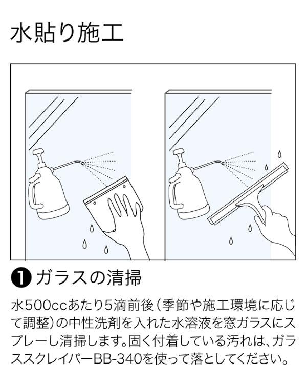 ガラスフィルムの施工方法2