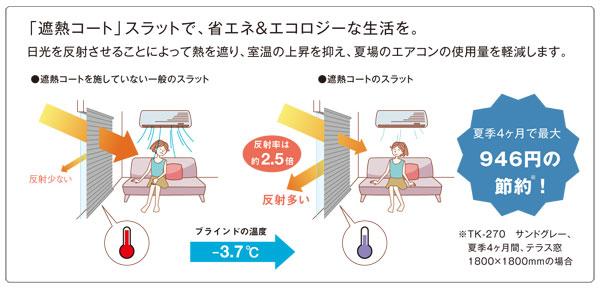 節電効果の高い遮熱コートスラット