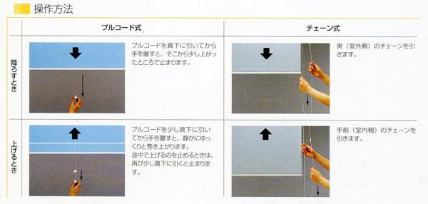 ロールスクリーンの操作方法