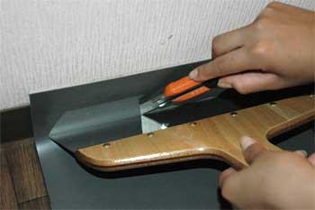 パンチカーペット壁際の処理