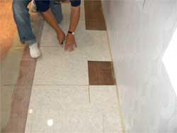 タイルカーペット壁際の処理