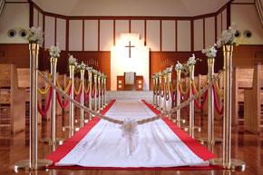 レッドカーペットは結婚式にも使えます。
