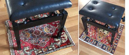カシュガイ絨毯の座布団サイズ