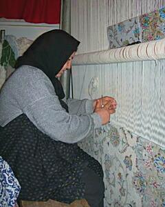 ペルシャ絨毯の話、絨毯を織る人