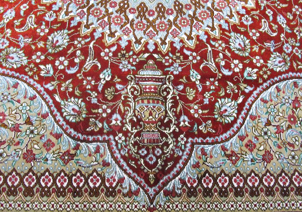 ペルシャ絨毯玄関マットサイズ拡大写真