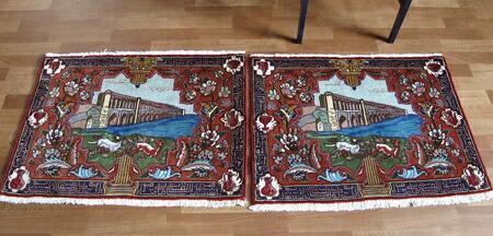 ペルシャ絨毯 玄関マットサイズ拡大写真7