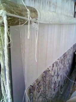 イスファハン・ペルシャ絨毯の織り機