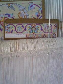 イスファハン・ペルシャ絨毯のデザイン画