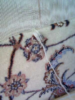 イスファハン・ペルシャ絨毯の結んだ一目
