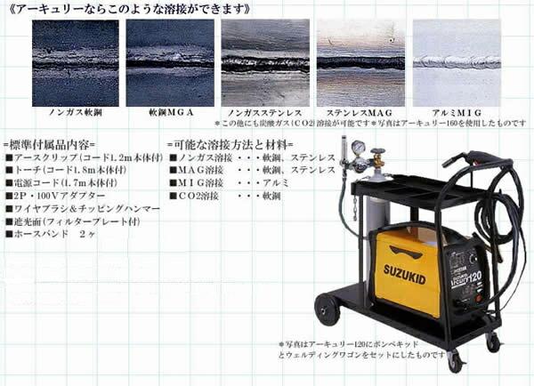 100Vで薄板・ガス溶接可能 半自動溶接機 アーキュリーSAY-120 ワイヤ1本付