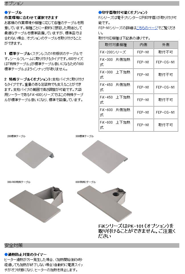 富士インパルス 足踏み式・頭部稼動タイプシーラーFiK-200-10