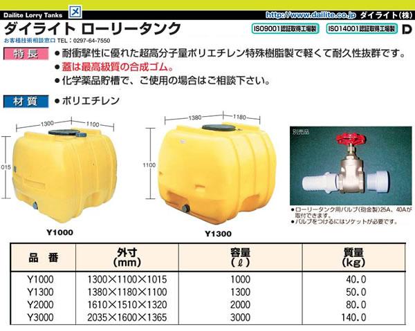 ダイライト Y型ローリータンク Y2000