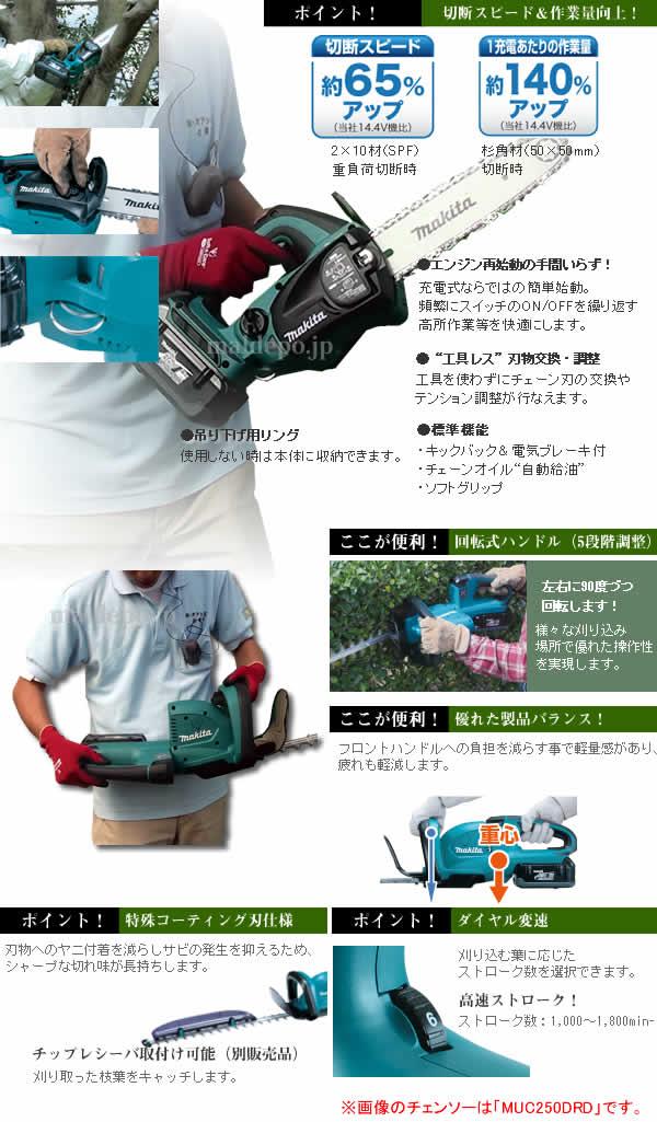 マキタ(makita) 超お得!makita36V 充電式チェンソー+充電式ヘッジトリマ 剪定セット