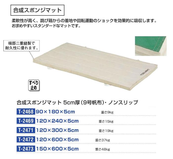 TOEI LIGHT スタンダード合成ノンスリップスポンジマット(9号帆布)120x300x5cm