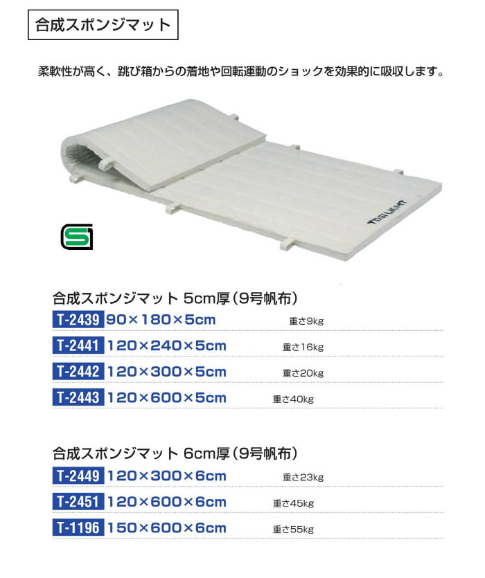 TOEI LIGHT 合成スポンジマット(9号帆布)120x300x6cm
