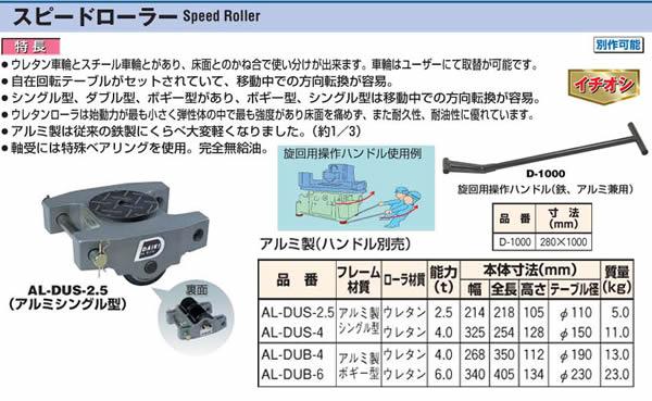 ダイキ スピードローラー アルミ製 AL-DUB-4