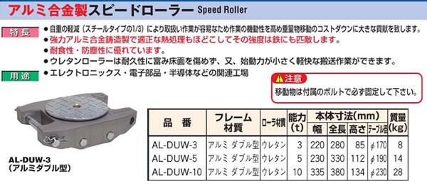 ダイキ アルミ合金製スピードローラー AL-DUW-3