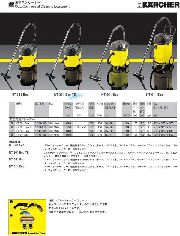ケルヒャージャパン バキュームクリーナー NT-361ECOTE