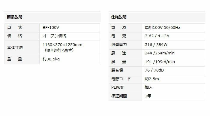 ナカトミ 超ビッグファン(サーキュレーター) 直径100cm 全閉式モーター搭載 BF-100V 【個人宅配送】