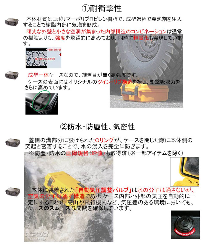 PELICAN PRODUCTS ラージケース フォームなし(ミリタリーケース・プロテクターケース) 1140×643×419mm ブラック 1780NFBK