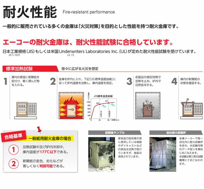 エーコー 小型耐火金庫 ICカードロック式 幅330mm ONS-C 【受注生産品】