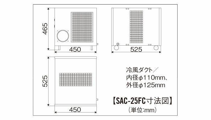 ナカトミ フロア型スポットクーラー 単相100V SAC-25FC 【個人宅配送】