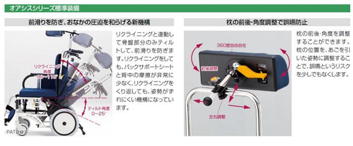 松永製作所 ティルトリクライニング車椅子オアシスシリーズ OS-12TRS ショートタイプ