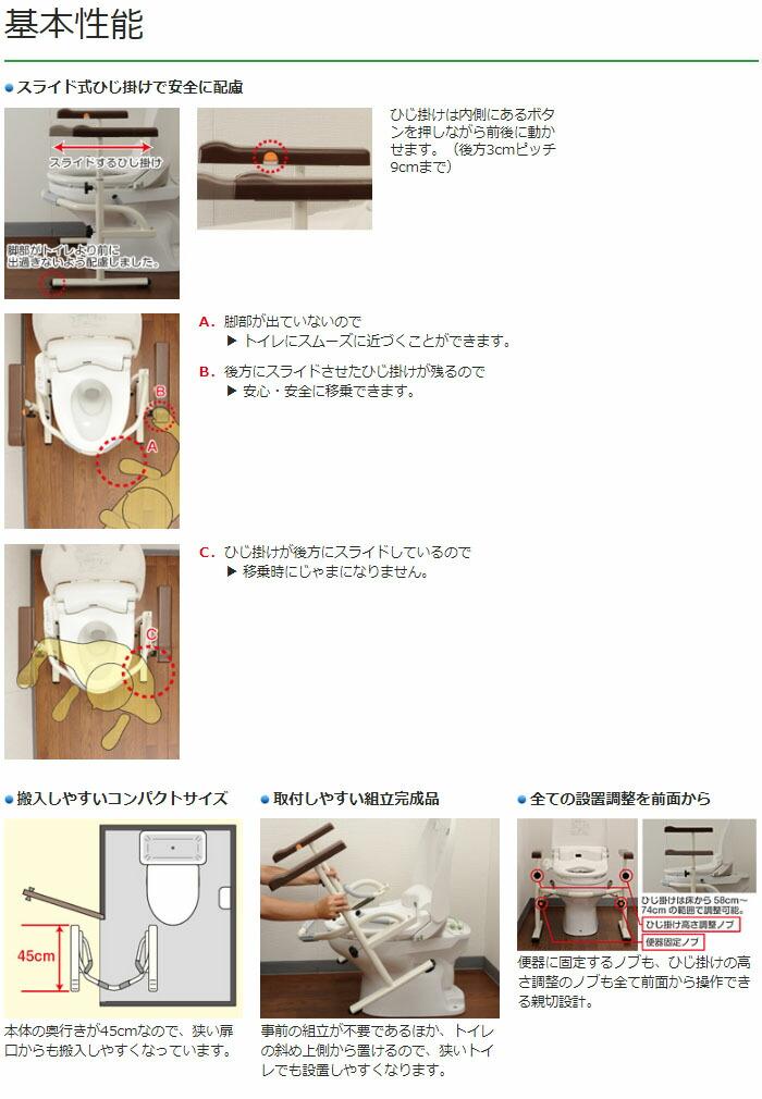 パナソニックエイジフリー 洋式トイレ用スライド手すり(ステンレス) PN-L53001
