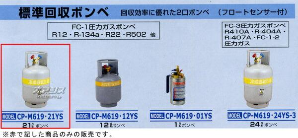 デンゲン 標準回収ボンベ21L CP-M619・21YS