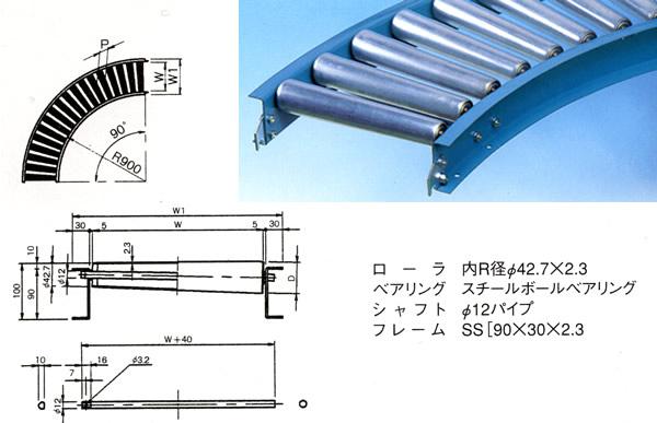 MISUZU(三鈴工機) テーパローラコンベヤMT57A-400790