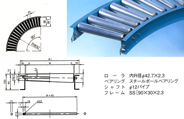 MISUZU(三鈴工機) テーパローラコンベヤMT57A-601090