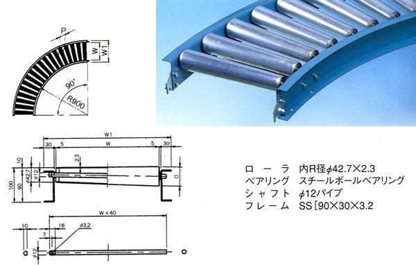 MISUZU(三鈴工機) テーパローラコンベヤMT57B-501090