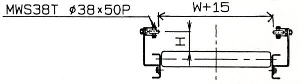 MISUZU(三鈴工機) ローラーコンベヤガイド G-W-02-90°