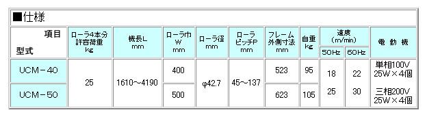 MISUZU(三鈴工機) ユニバーサルドライブコンベヤ UCM-401