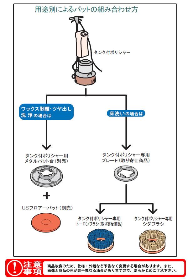 テラモト タンク付ポリシャー(床洗浄)14型 EP-520-114-0