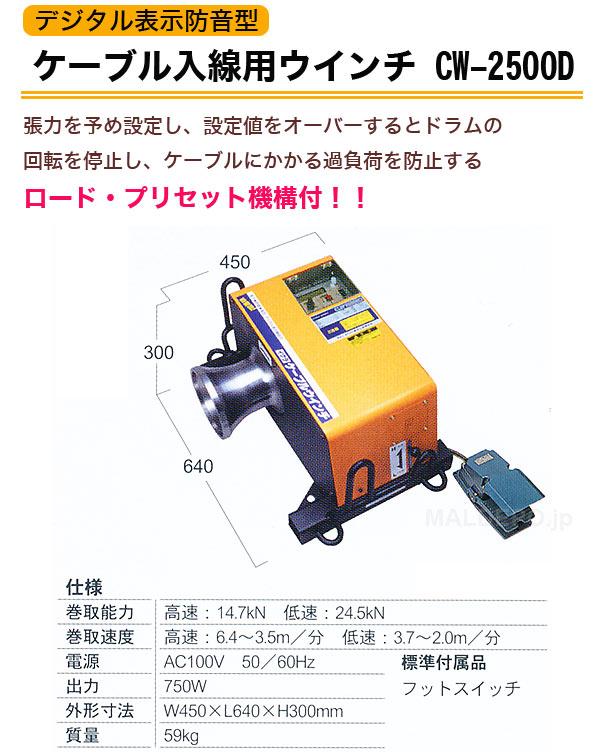 育良精機 デジタル表示防音型 ケーブル入線用ウインチ CW-2500D