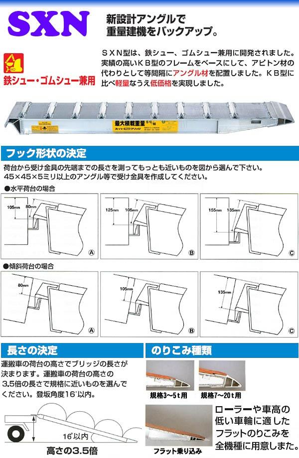 昭和ブリッジ 【受注生産品】アルミブリッジ SXN-300-30-5.0(1本)