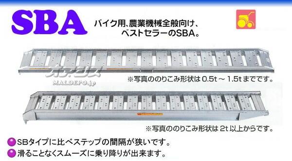 昭和ブリッジ 農機用 アルミブリッジ SBA-360-40-4.0(1セット2本)【受注生産品】【個人法人別運賃】