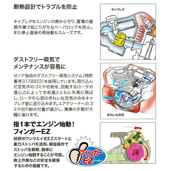 Zenoah(ゼノア) エンジンチェンソー G2501T-EZ フィンガーEZ 250mm 10inch SP 25AP