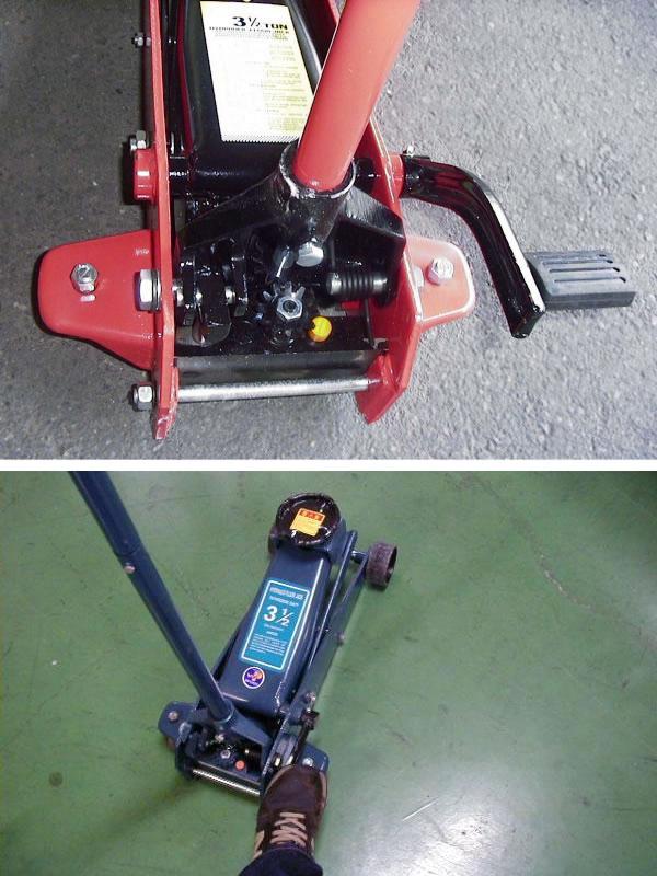 油圧式フロアジャッキ 3.5t セミオート(クイックペダル付) 青【都度見積り】