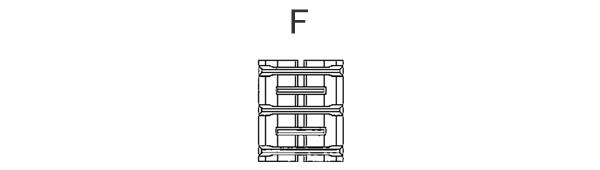 東日興産 コンバイン用 ゴムクローラー YA359036-F 350*90*36 パターンF【個人宅都度確認】【条件付送料無料】